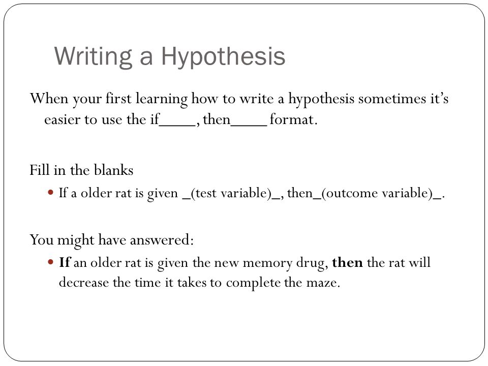 how to make hypothesis in research paper Integrity is a key after you created the final paper, be decisive to make necessary changes and correction especially before the submission it usually happens that in the end of the research a writer can face with inconsistencies in all sections of his writing.