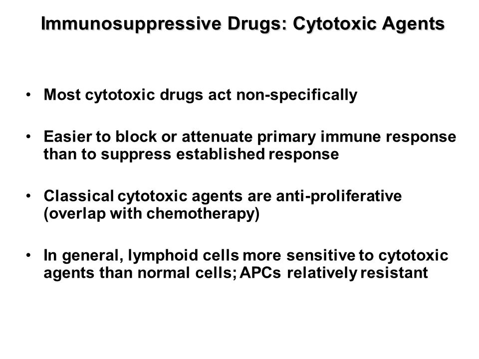 Immunosuppressive Drugs: Cytotoxic Agents