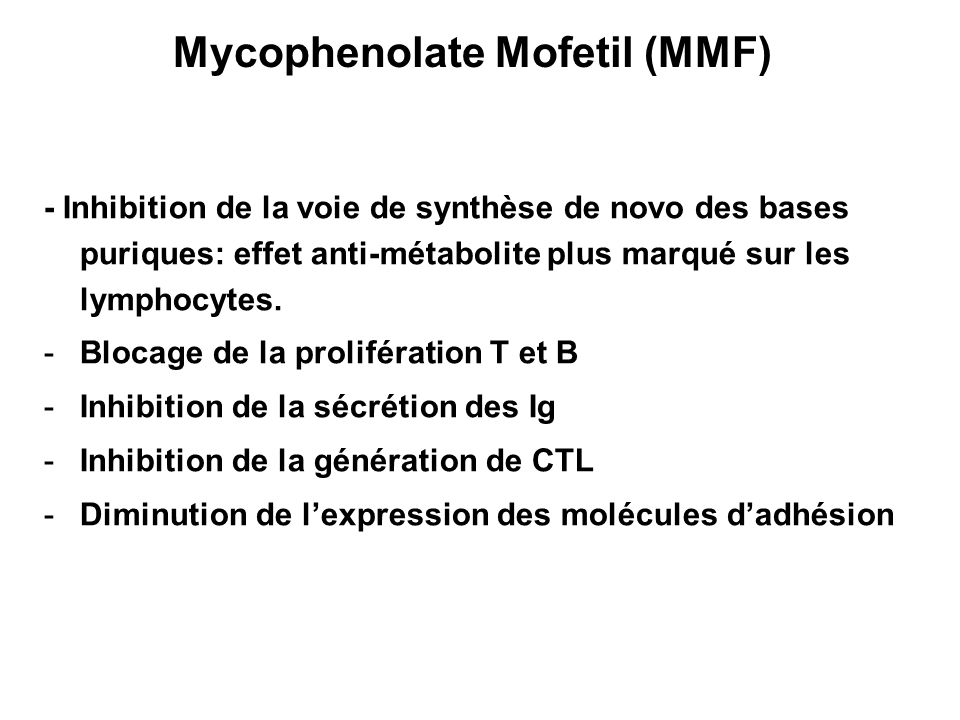Mycophenolate Mofetil (MMF)
