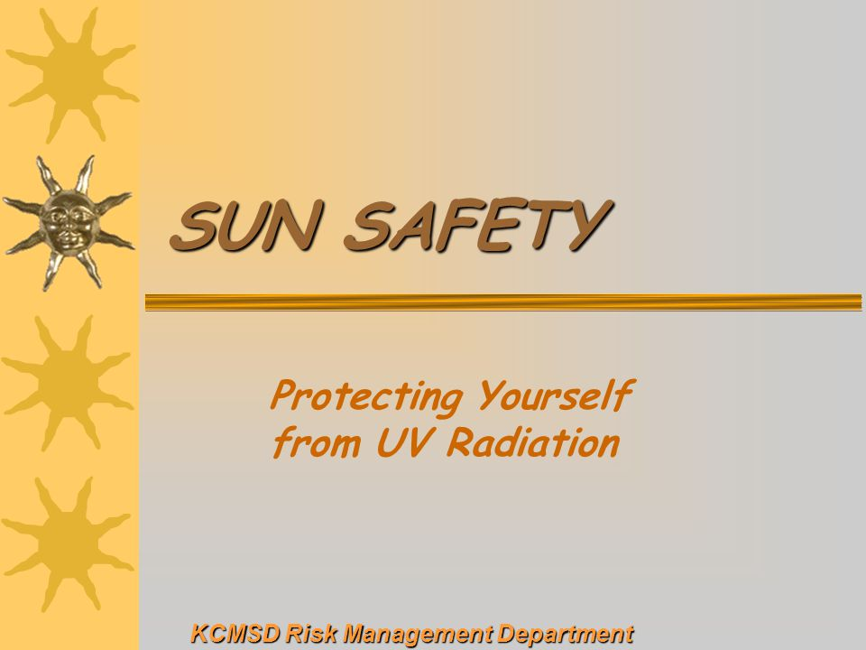 Protecting Yourself from UV Radiation