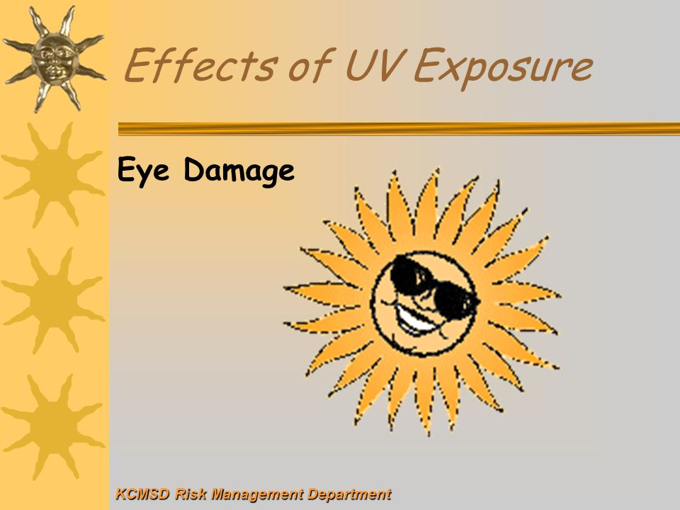 Effects of UV Exposure Eye Damage KCMSD Risk Management Department