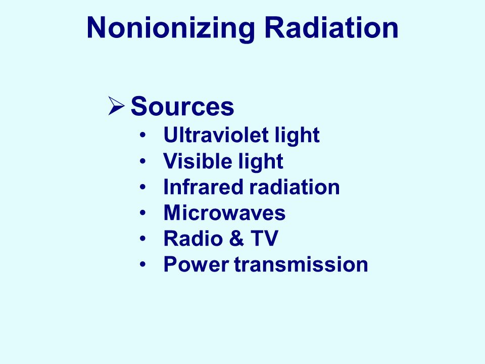 non ionizing radiation health effects pdf