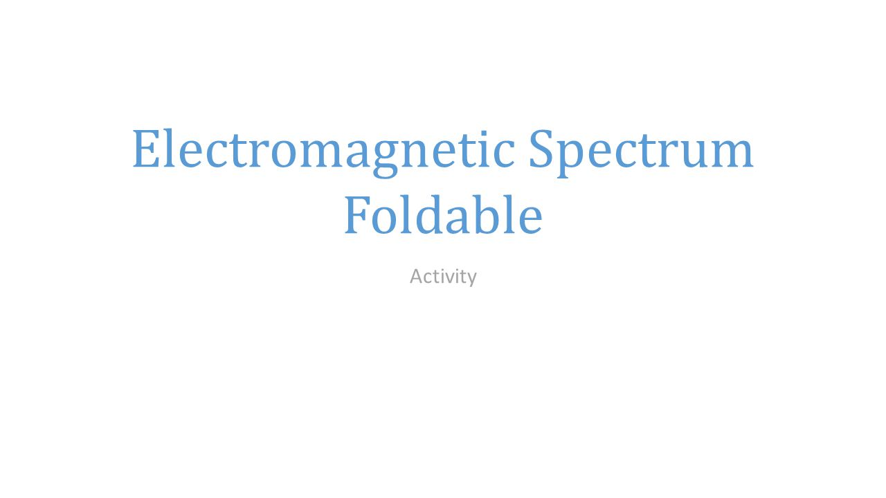 Waves of the Electromagnetic Spectrum - ppt video online download