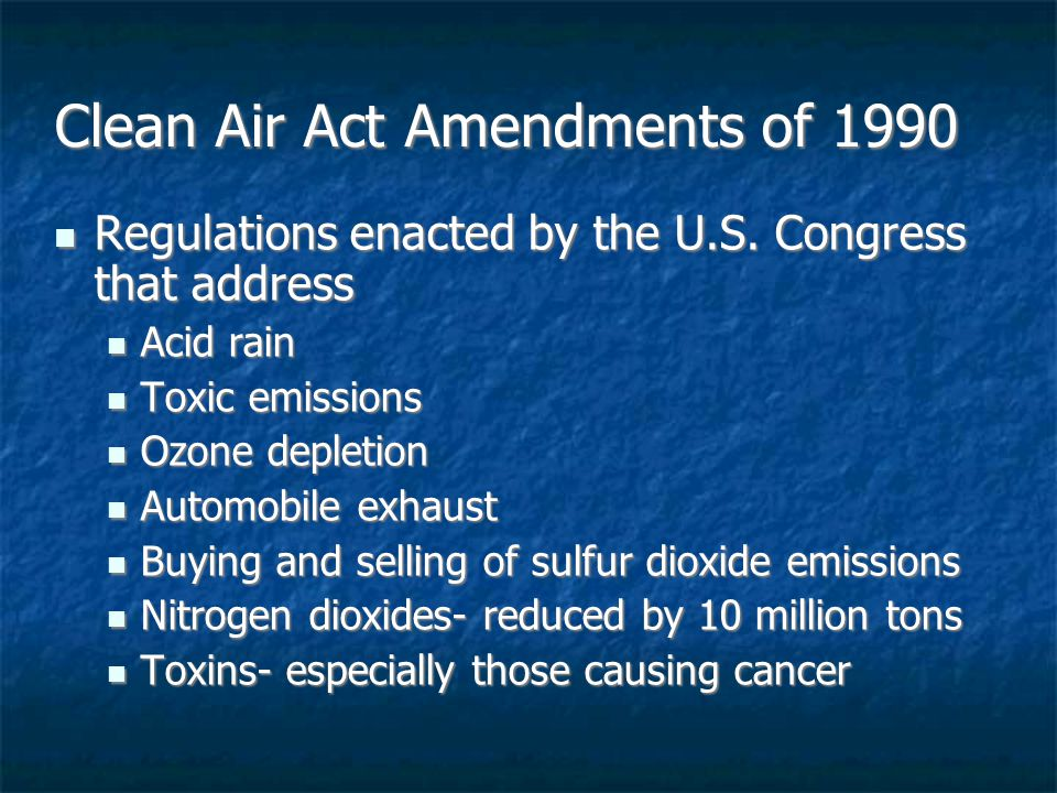 Congress And Clean Air >> Chapter 18: Air Pollution - ppt download