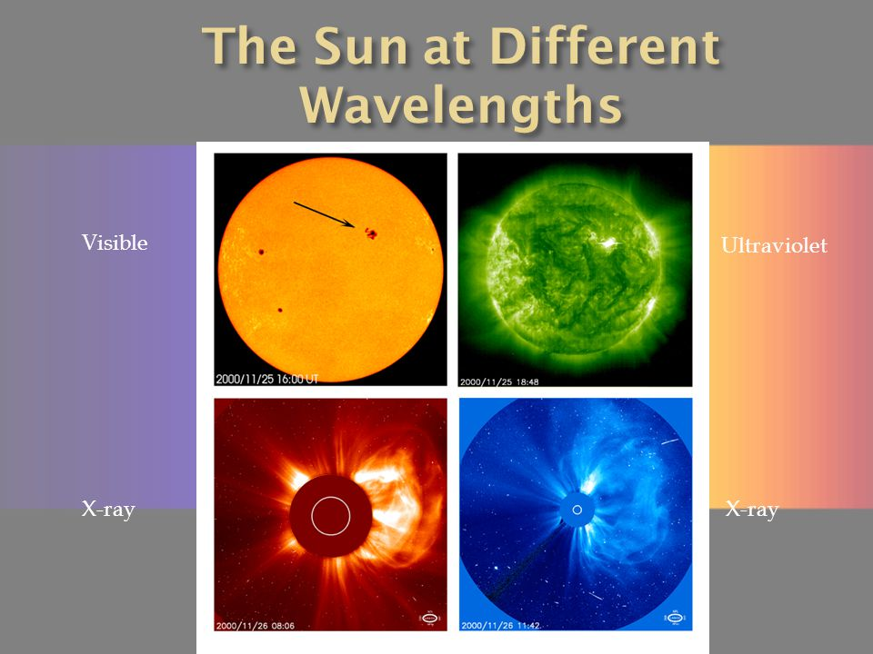 The Sun at Different Wavelengths