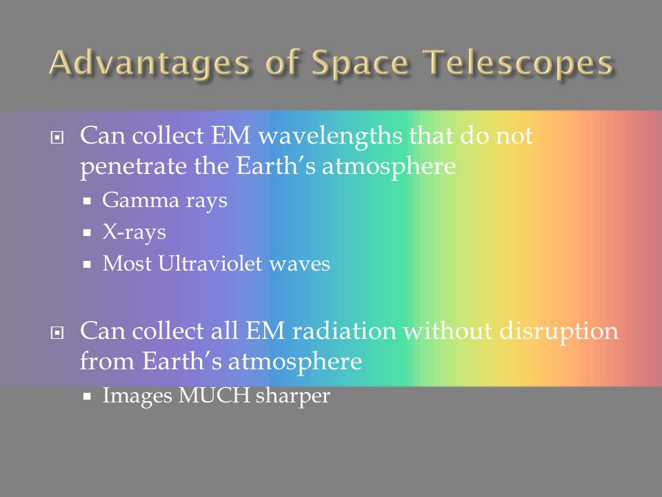 Advantages of Space Telescopes