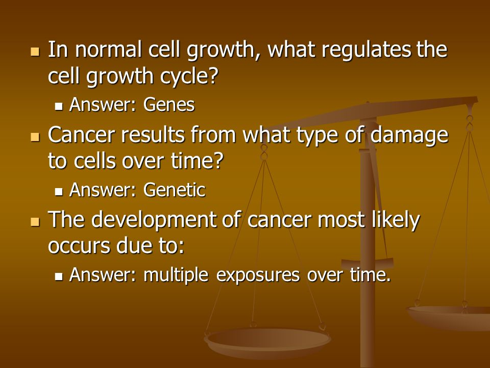 In normal cell growth, what regulates the cell growth cycle