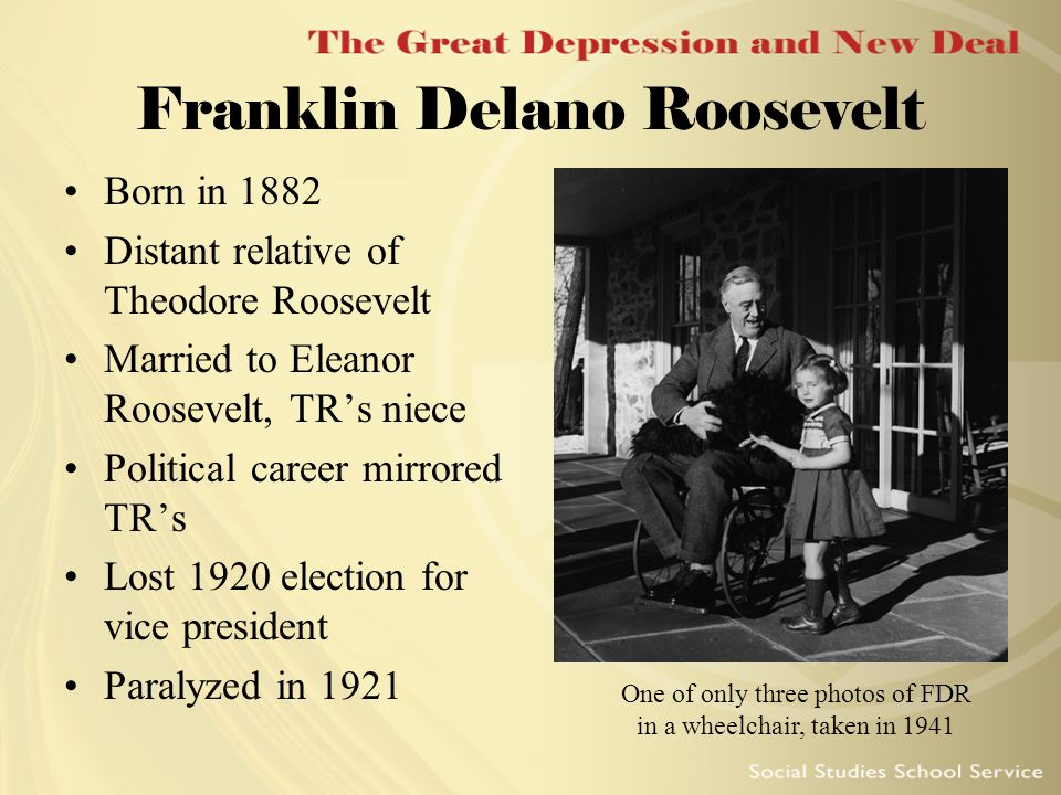 The life and political career of franklin d roosevelt