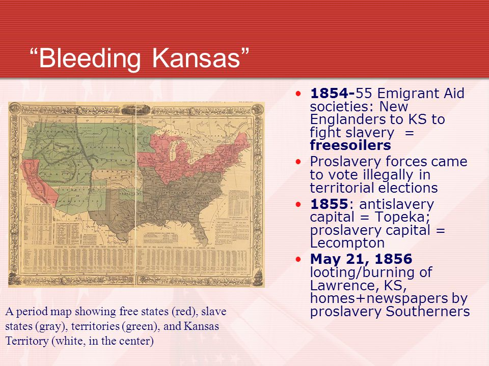US History Coach Pritch J Ppt Download - Bleeding us map