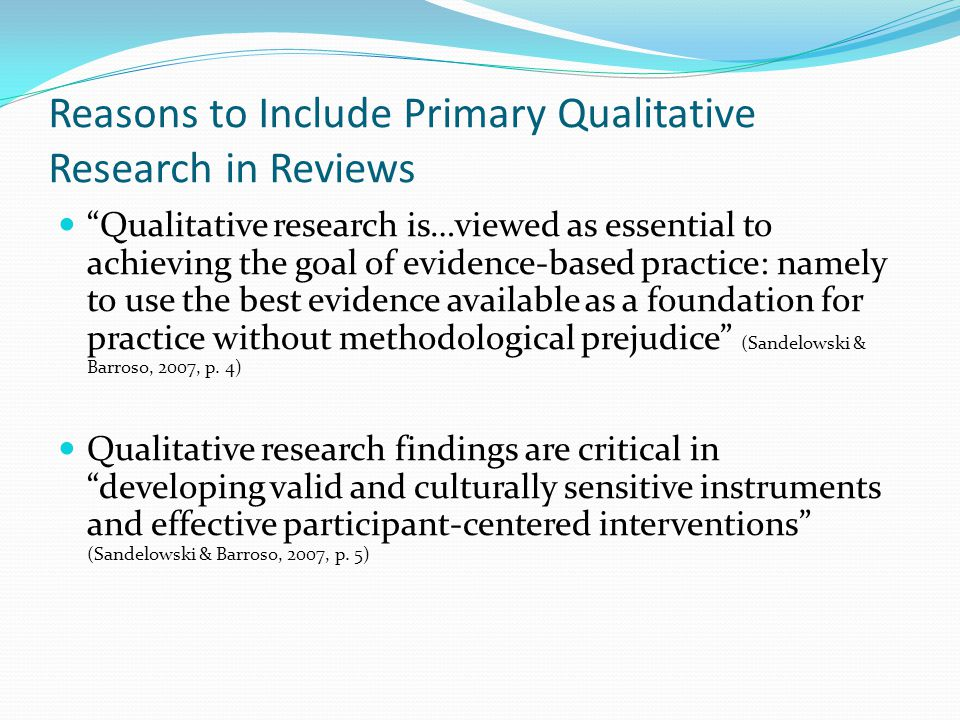 primary qualitative research Learn the differences between qualitative and quantitative research, and find out which type is right for your survey research project.