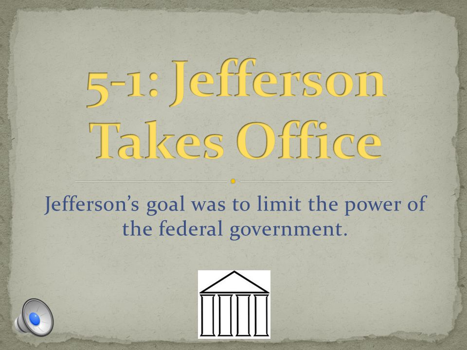 5-1: Jefferson Takes Office