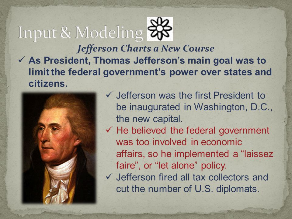 Jefferson Charts a New Course