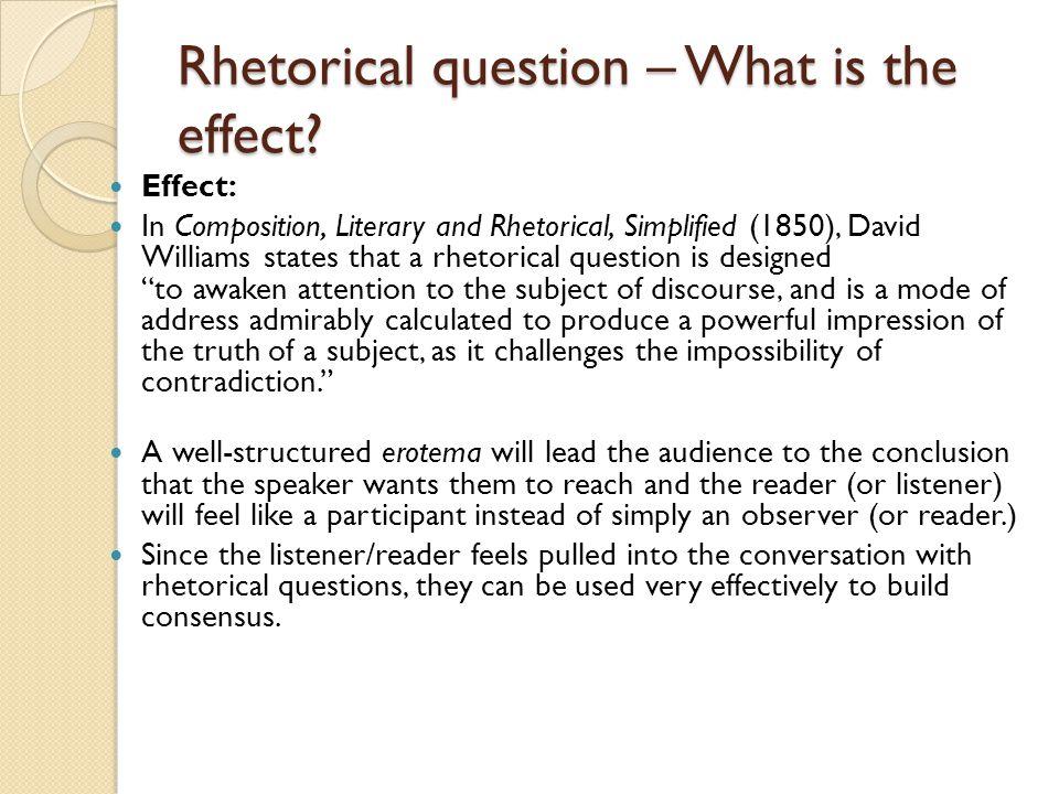 asking a rhetorical question in an essay