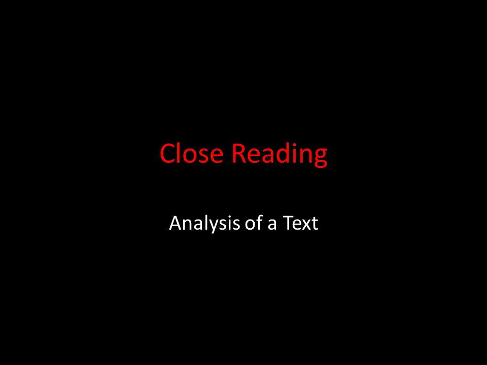 the analysis of texts Analysis - nucleus of the research project when selecting a method for analysis you have to consider the chain of operations that your work shall be part of, cf planning a research project.