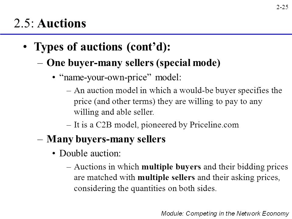 2.5: Auctions Types of auctions (cont'd):