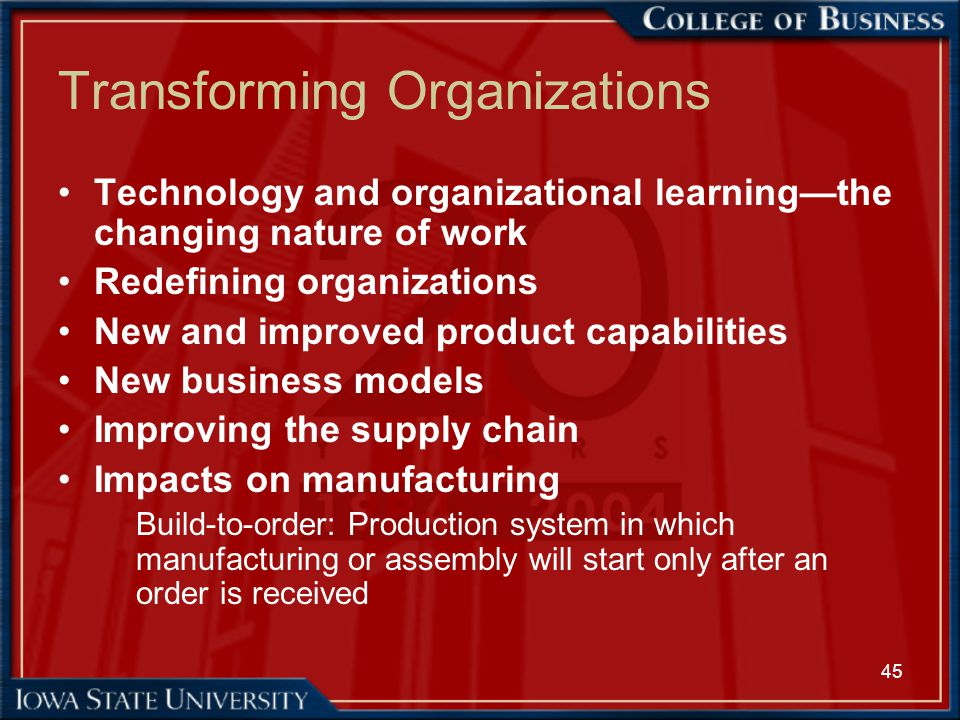 transforming organization transforming countries essay Ways in which information systems are transforming business ways in which information systems are transforming business organization, and.