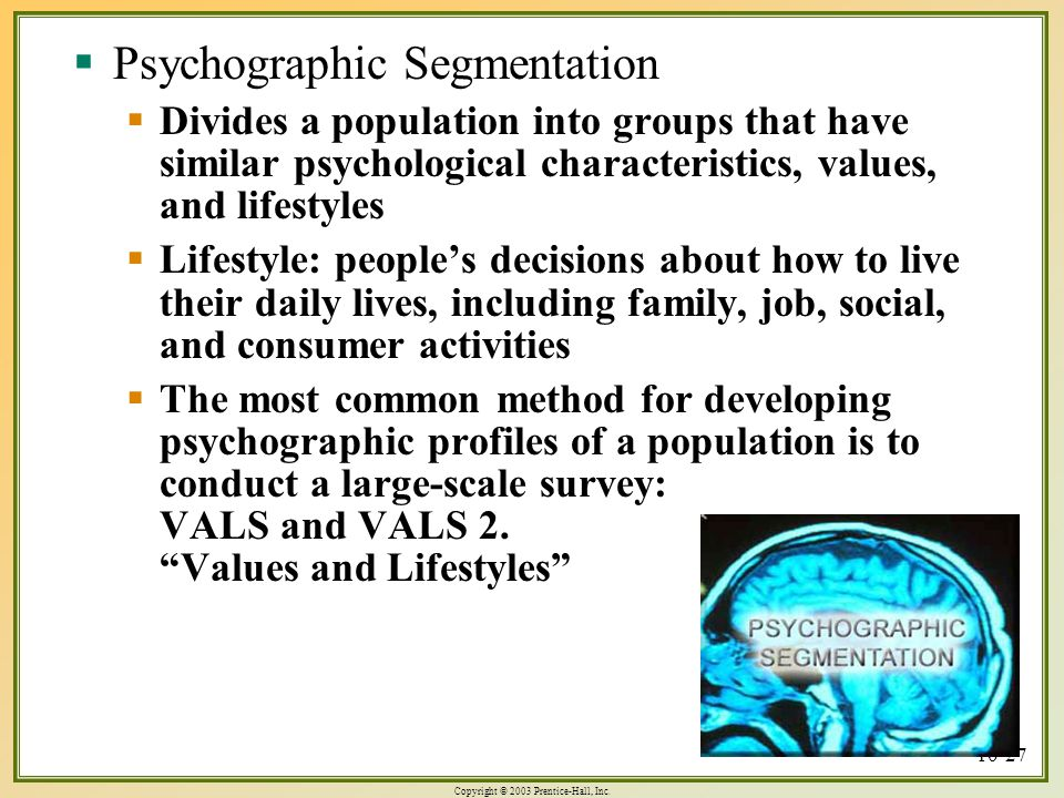 vals as a method of market segmentation Start studying ch9 marketing learn what does vals show between how we live our lives to achieve goals and provides a method for market segmentation.