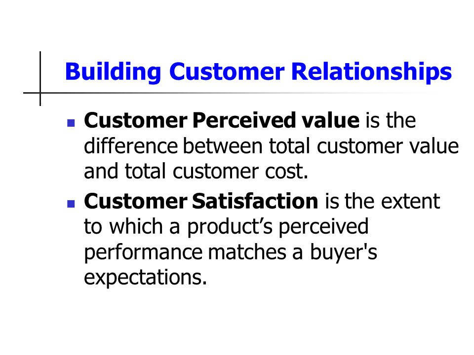 The relationship between customer satisfaction and