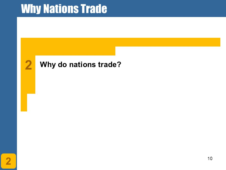 why do nations engage in trade Why do countries trade overview have you ever traded something your mom packed you for lunch with another kid maybe his mom made the best brownies but he was tired of them and preferred your store-bought cookies, something he never got at home.