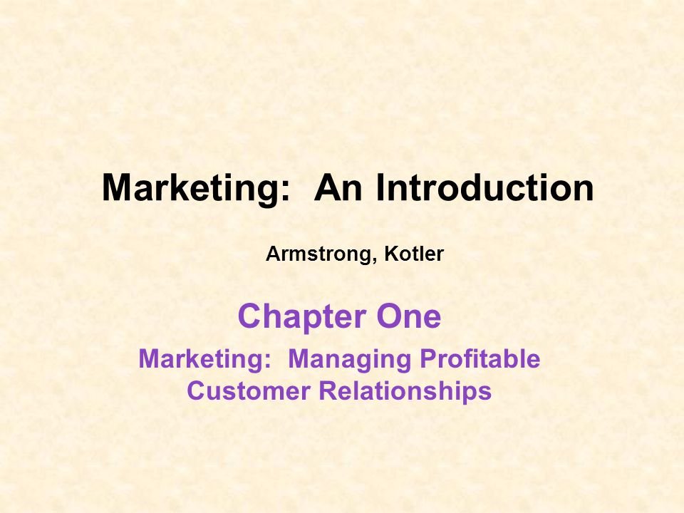 Marketing An Introduction Armstrong Kotler Ppt Video Online Download