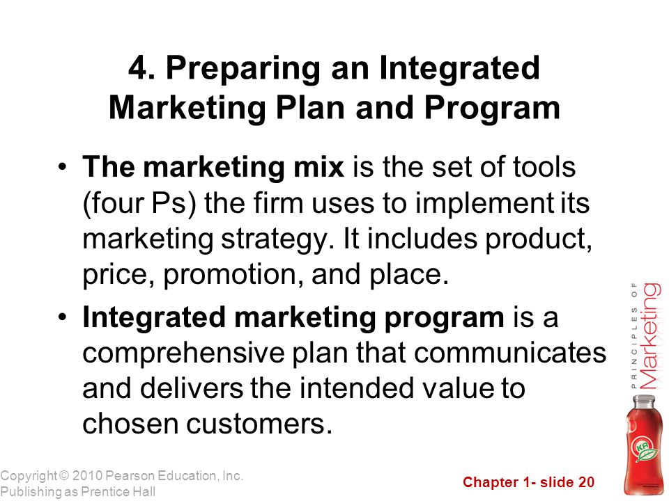 4. Preparing an Integrated Marketing Plan and Program