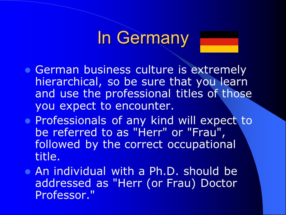 Business etiquette in germany ppt best business 2017 germany business culture and etiquette m4hsunfo