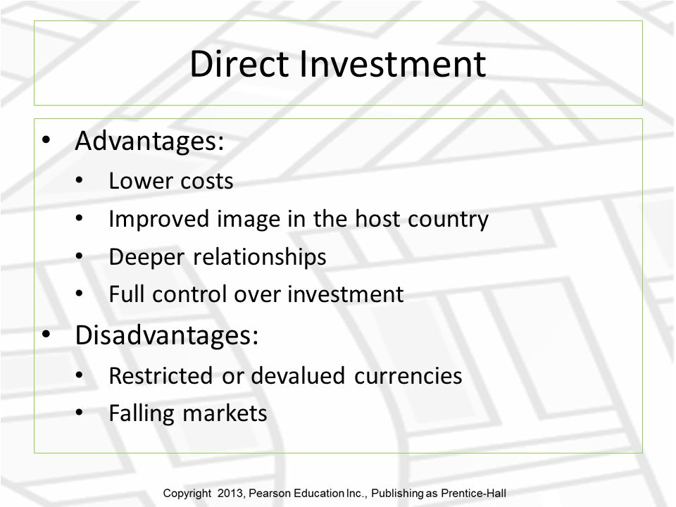 disadvantages of foreign direct investment to host country This one will deal with the pros and cons of foreign direct investment from the  point of view of the host country, the country receiving the foreign.