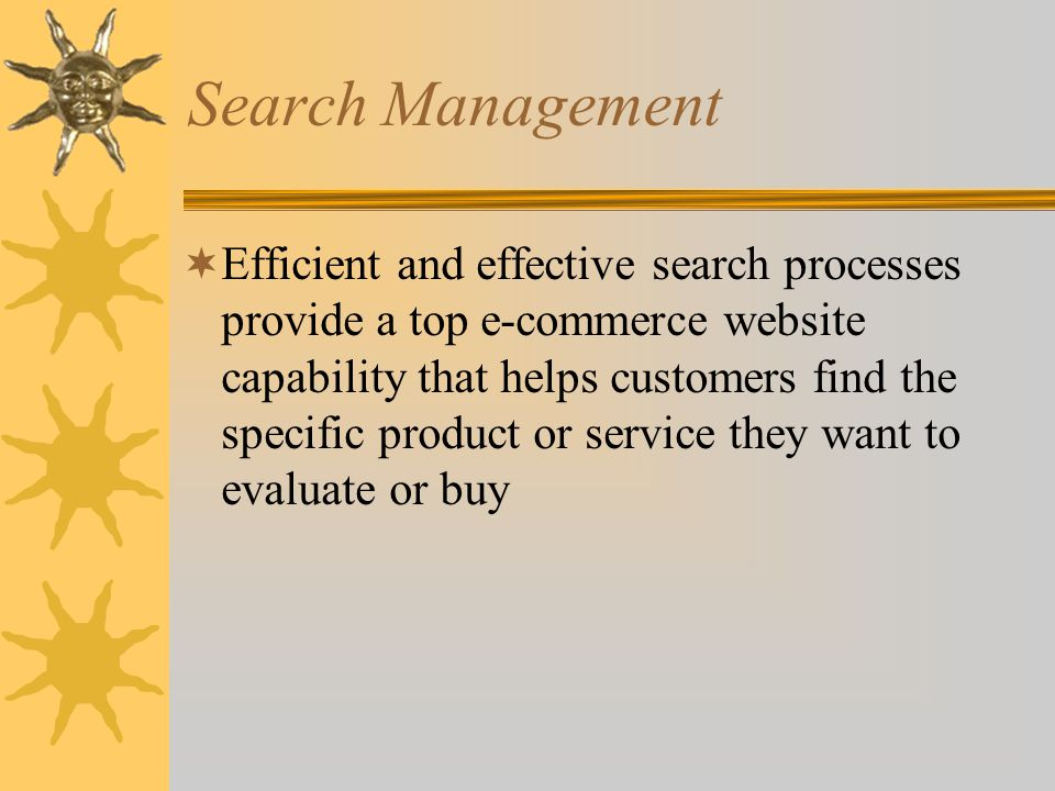 Search Management