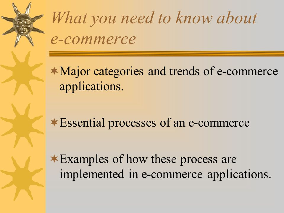 What you need to know about e-commerce