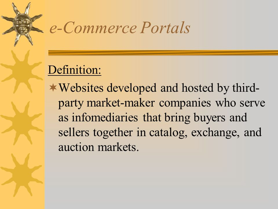 e-Commerce Portals Definition: