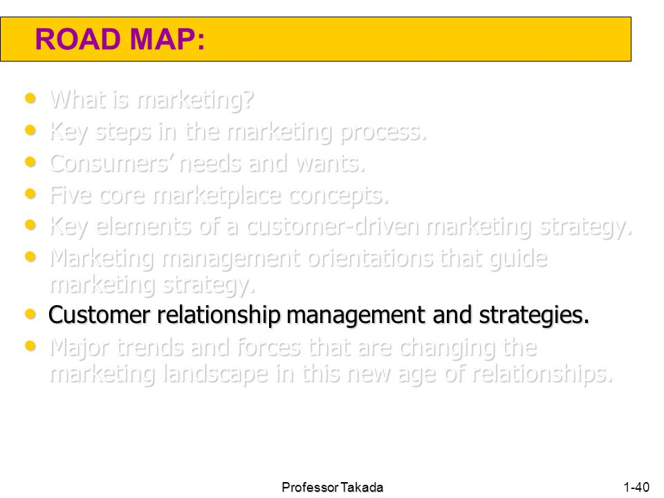 customer relationship management and marketing strategy