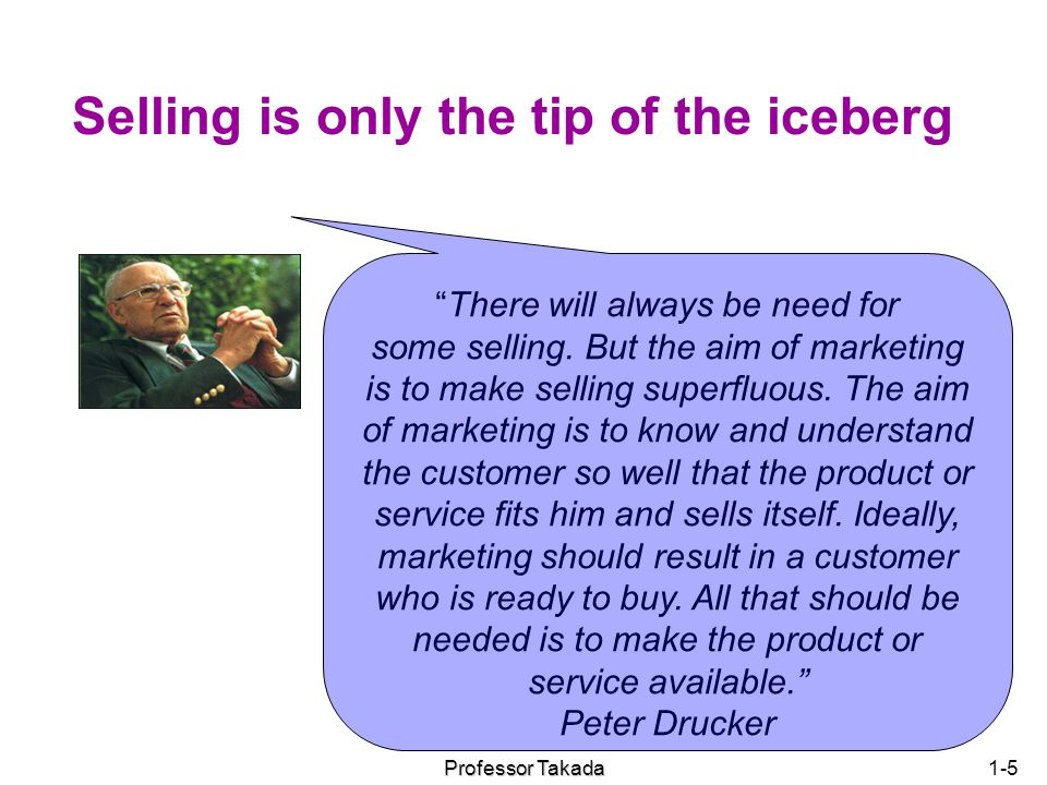 Selling is only the tip of the iceberg