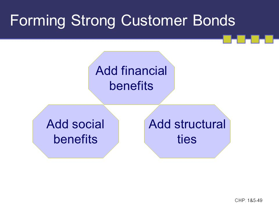Forming Strong Customer Bonds