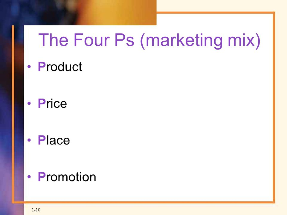 The Four Ps (marketing mix)