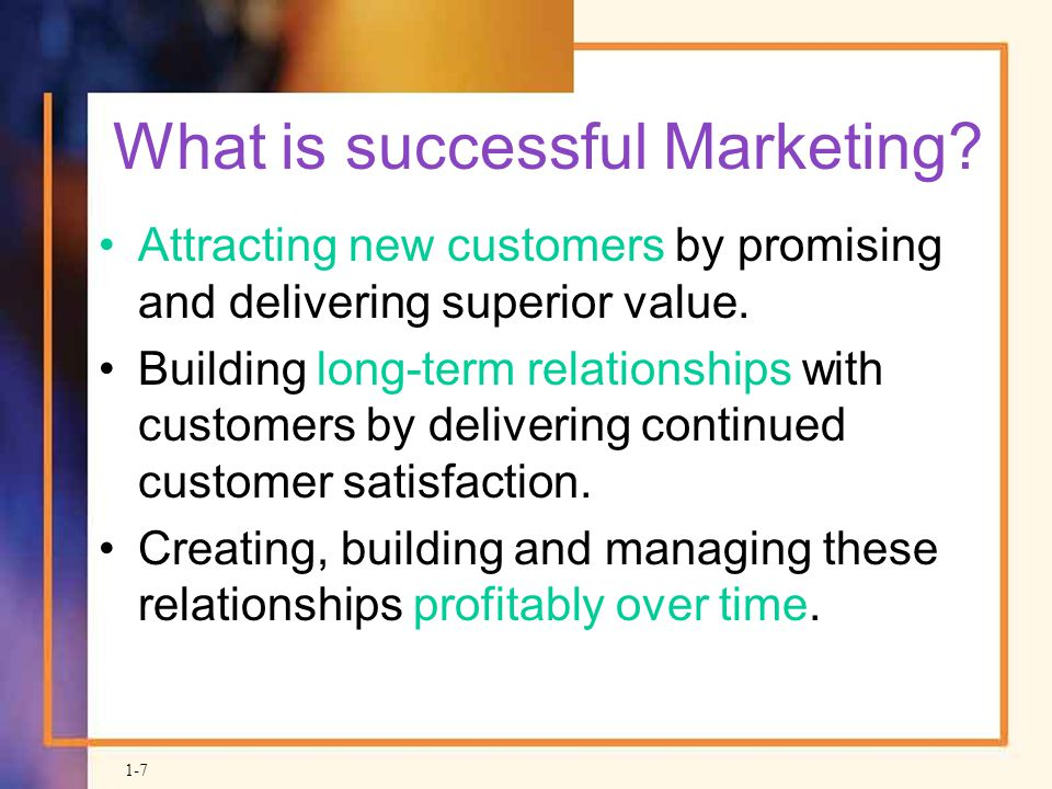 What is successful Marketing