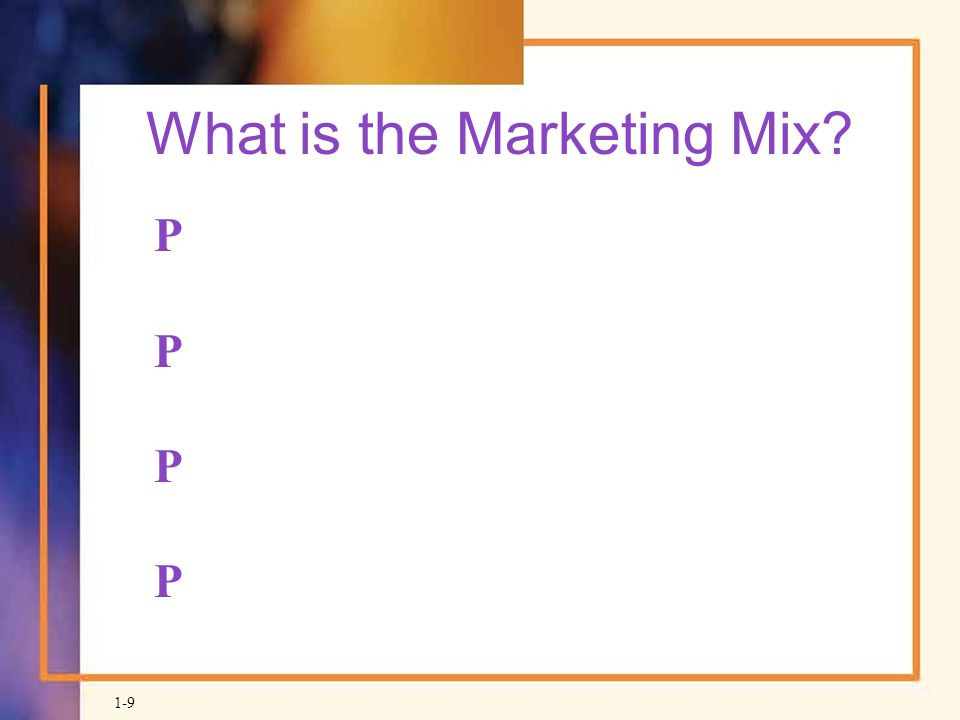 What is the Marketing Mix