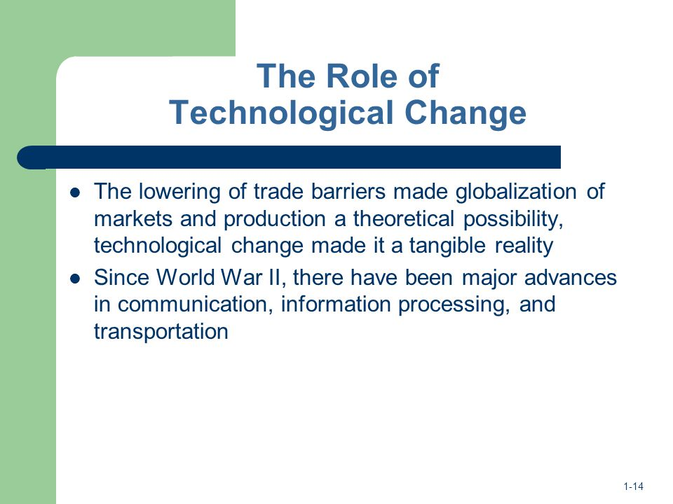 role of technology in globalization with