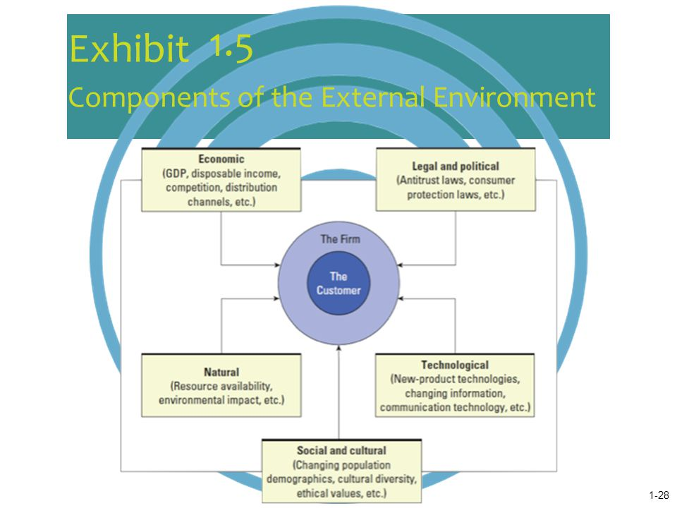 components of external environment  assignment on business environment contents introduction business environment refers to the combination of external and internal factors influence the.