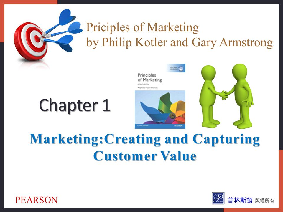 creating and capturing customer value Creating and capturing customer value: creating and capturing customer value what is marketing understand the marketplace and customer needs designing a customer-driven marketing strategy preparing an integrated marketing plan and program building customer relationships capturing value from customers the changing marketing landscape topic outline.
