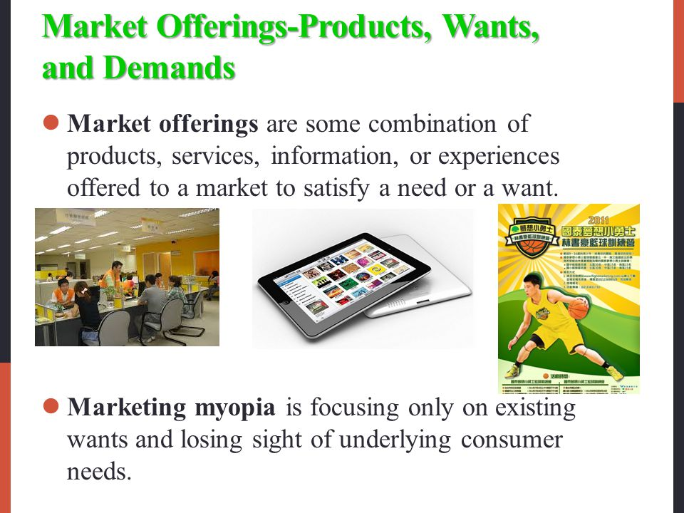 Market Offerings-Products, Wants, and Demands