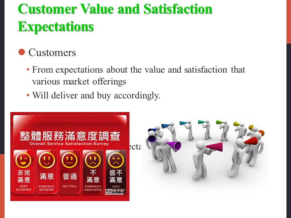 customer value and customer satisfaction Customer satisfaction management - customer loyalty, transaction and relationship surveys, drivers of customer loyalty and satisfaction, kano model, evolution of.