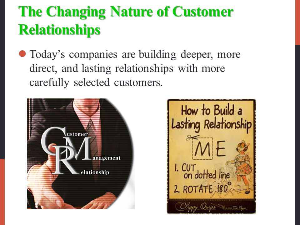The Changing Nature of Customer Relationships