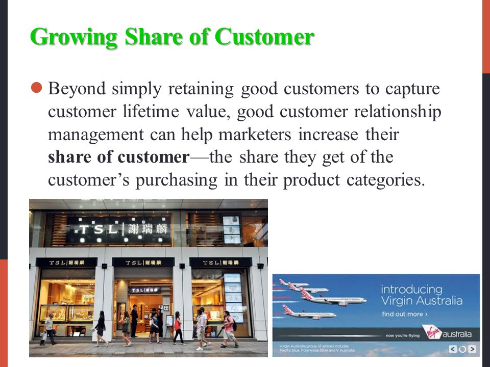 Growing Share of Customer