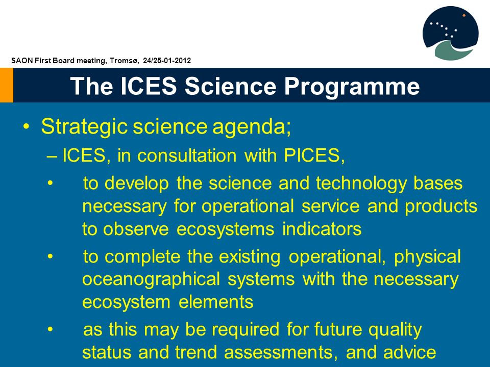 Strategic science agenda;