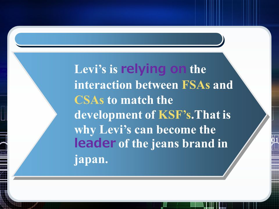 levi s segmentation Marketing management topic 3  cohort segmentation e)  levi-strauss introduced premium levi's capital e line to upscale retailers and the economy levi strauss.