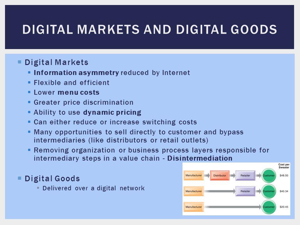 Digital markets and digital goods
