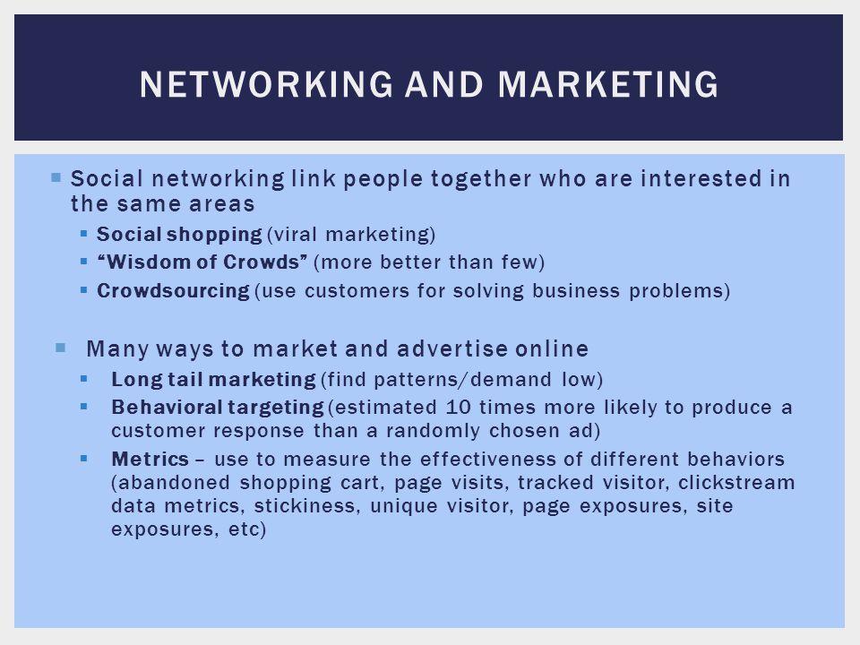 Networking and marketing