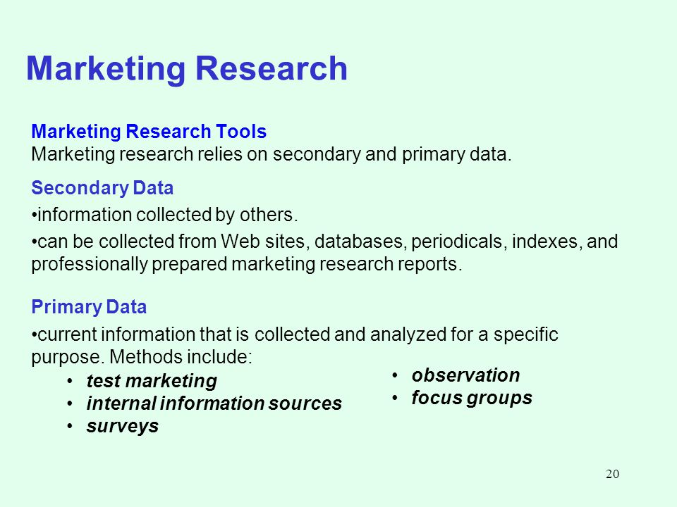 research tools used in primary and secondary research Marketing research tools paper • resources: internet, university library • write a 1,050- to 1,400-word paper in which you differentiate among the research tools used in primary and secondary research.