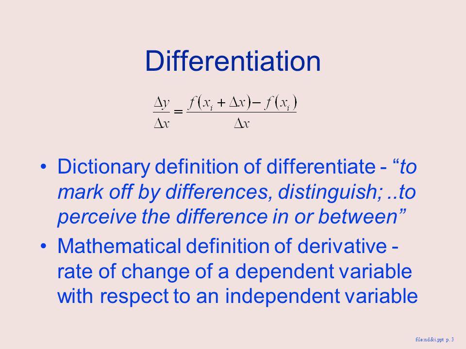 Differentiate
