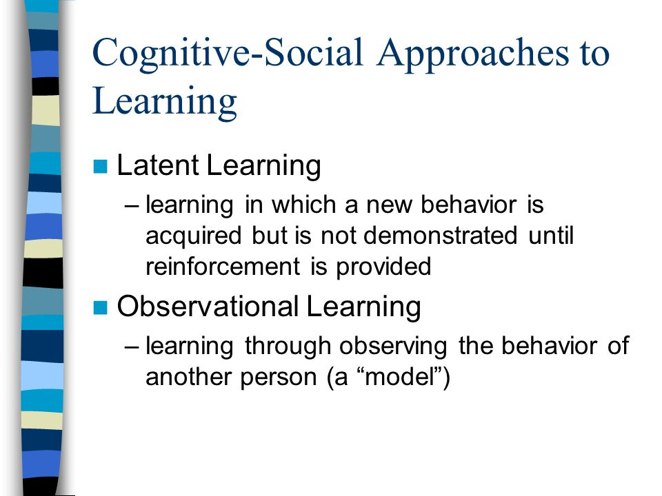 Cognitive-Social Approaches to Learning
